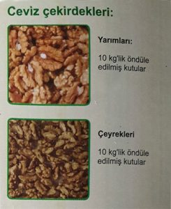 walnuts kernels turkish